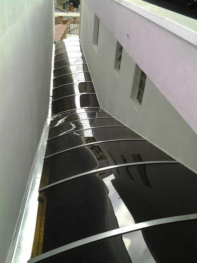 Cobertura toldo policarbonato em Santo André